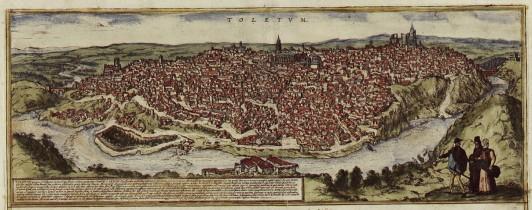 16世紀のトレド(スペイン)。現在の街並みも、この頃とほとんど変わらない。