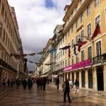 リスボン市内の歩行者天国(ポルトガル)