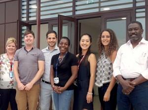 アフリカの各地域で勤務する同僚たちと、ウガンダで撮影。