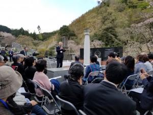 哈爾濱学院25期生の中村誠一さんか開会の挨拶をされました。