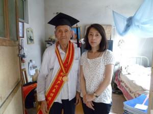 楊洛書先生と(2011 年)