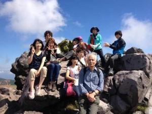 坂野先生との合宿登山