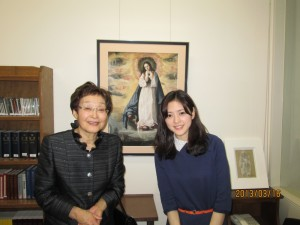 大切な日に祖母と 上智大学カトリックセンターにて