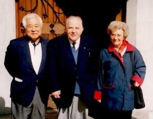 ルースご夫妻と(1985年ごろ)