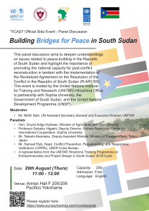"TICAD 7 Official Side Event- Panel Discussion ""Building Bridges for Peace in South Sudan"""
