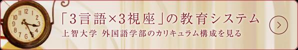 「3言語×3視座」の教育システム 上智大学 外国語学部のカリキュラム構成を見る