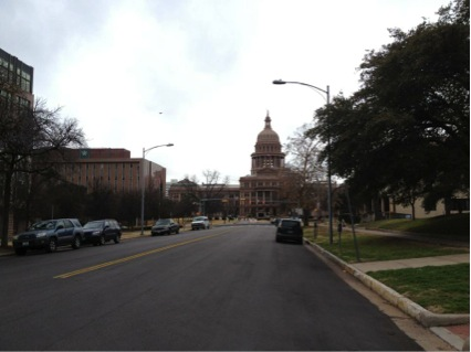 I took this picture when I walk to the capitol from my dorm.