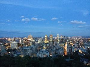 モンロワイヤルパークからの夜景