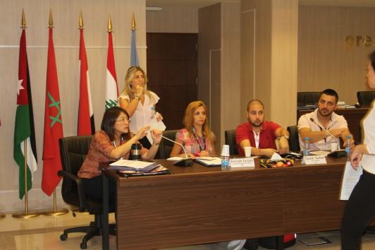 2014年3月、ユネスコベイルートオフィスいて対シリア支援と身体障害者の視点に関するワークショップ