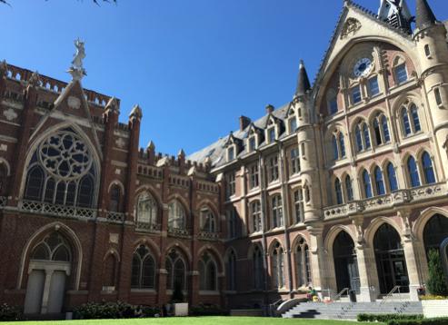 約10ヶ月間通ったリール・カトリック大学のメインキャンパス