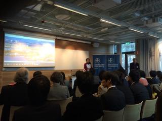2015年 第1回東京大学とストックホルム大学のシンポジウム