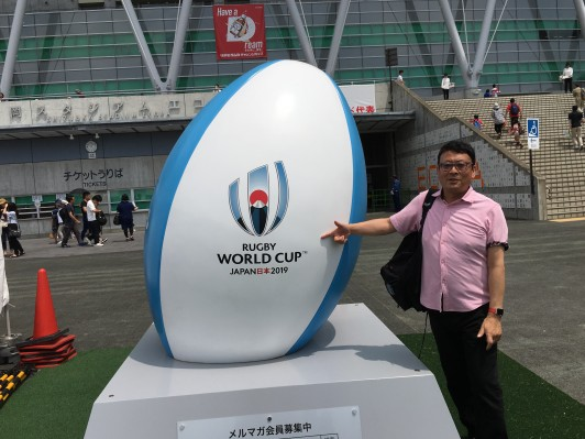 静岡スタジアムエコパにて2019年ラグビーワールドカップの下見
