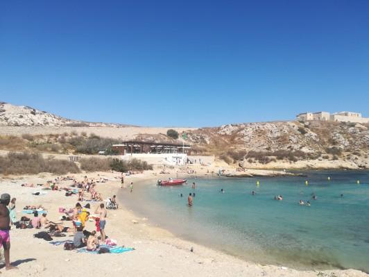 九月のマルセイユ、Frioul島。学期前の語学講座最終日のエクスカーション先でした。