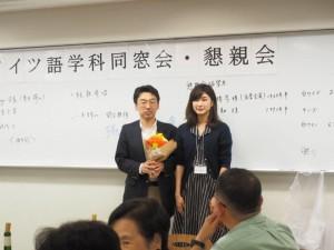㉂河崎健先生への花束贈呈
