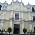 サンジョゼ聖堂 イエズス会に1758年建立。中国におけるバロック建築の代表作の一つ(マカオ)