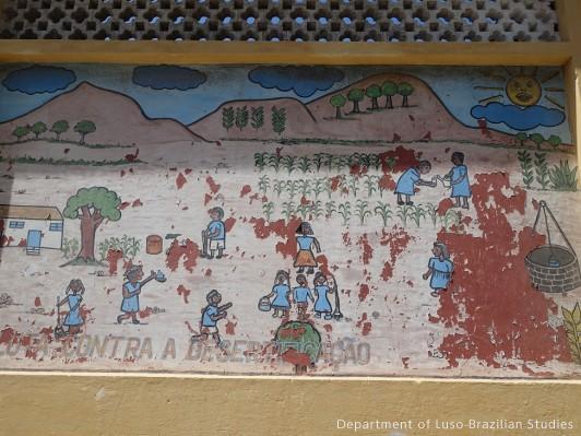 Cartaz na parede-Mindelo