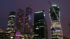 モスクワシティの高層ビル群