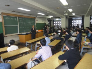 村田学科長からあいさつがありました。