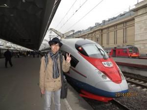 ロシアの新幹線Сапсан号に乗りました。