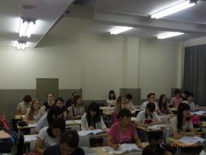 基礎ロシア語Ⅰ(総合)の授業を見学しました