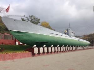潜水艦博物館。