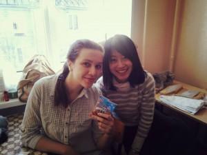 いきなりロシア人学生が訪ねてきました。