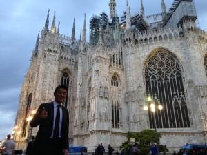 総理外遊(イタリア・ミラノ)での同行取材時の写真
