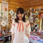 ベラルーシの民族衣装を着てみました。