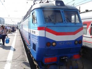 そしてモスクワに到着。4日間の列車旅は最高でした。