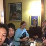 ベラルーシ人の友達に連れてってもらったレストランにて