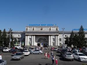 アルマトイⅡ駅。3日間アルマトイで過ごしたあと、モスクワへ出発しました。