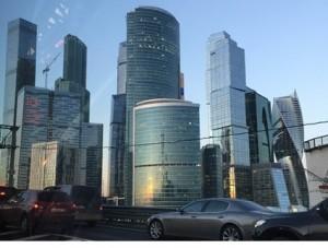 三井物産モスクワ有限会社が所在する、モスクワの「シティ」と呼ばれる高層ビル街
