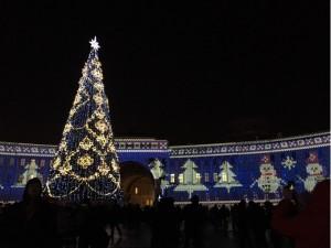 宮殿広場のプロジェクションマッピング
