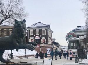 イルクーツクの街の中心部