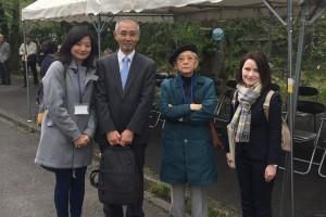 本学からはムヒナ先生、歴代教員として外川先生、井上先生が参加されました (左端が筆者=青木緑)