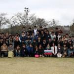 現地で記念撮影(4月5日)