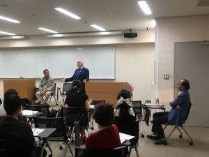北海道大学で行われたゼミ合宿の様子