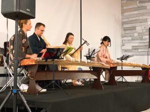 発表の様子。私は小学生の時からお琴を習っていたのですが、このような貴重な機会がいただけて、「日露文化交流年」に留学できてよかったと心から思えました!