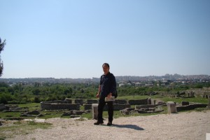 クロアチアのスプリット郊外のサロナ遺跡にて