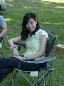 著者近影(2014年、群馬のキャンプ場にて)